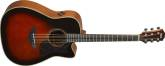 Yamaha - A3M All Solid Spruce-Mahogany Dreadnought Cutaway - Tobacco Brown Sunburst