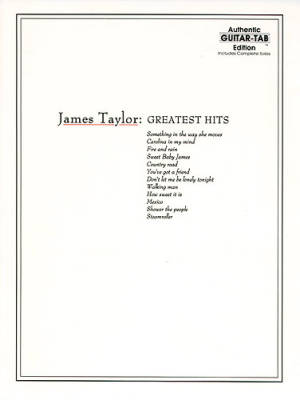 James Taylor Greatest Hits - Guitar Tab