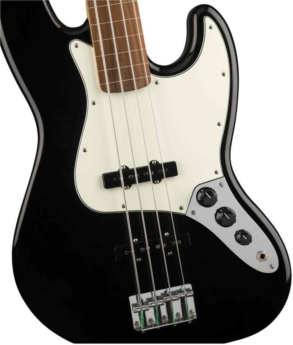 fender standard jazz bass fretless pau ferro fingerboard black long mcquade musical. Black Bedroom Furniture Sets. Home Design Ideas