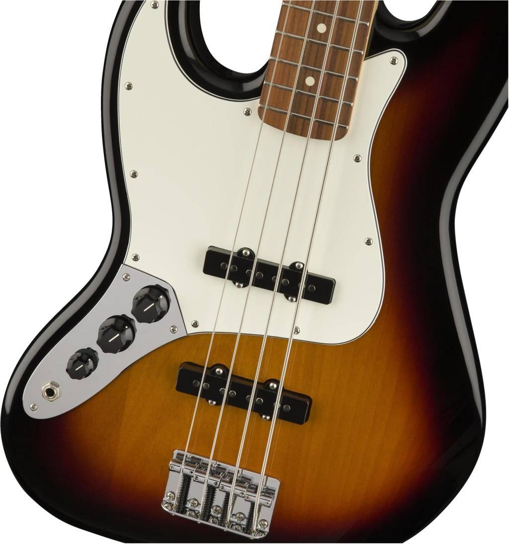 fender standard jazz bass left handed pau ferro fingerboard brown sunburst long mcquade. Black Bedroom Furniture Sets. Home Design Ideas