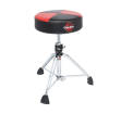 Gibraltar - 9000 Series Round Two-Tone Throne - Black/Red