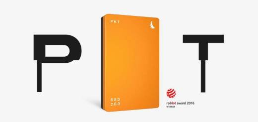 SSD2go PKT SSD Drive, 256GB - Orange