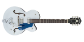 Gretsch Guitars - G6118T Players Edition Anniversary with String-Thru Bigsby, 2-Tone Iridium Silver/Azure Metallic