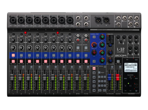 LiveTrak L-12 12-Channel Digital Mixer / Recorder w/FX - USB