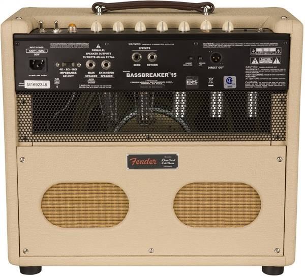 fender limited edition bassbreaker 15 15 w tube combo amplifier blonde long mcquade. Black Bedroom Furniture Sets. Home Design Ideas
