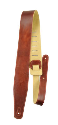 2.5'' Top Grain Italian Leather Guitar Strap - Rust
