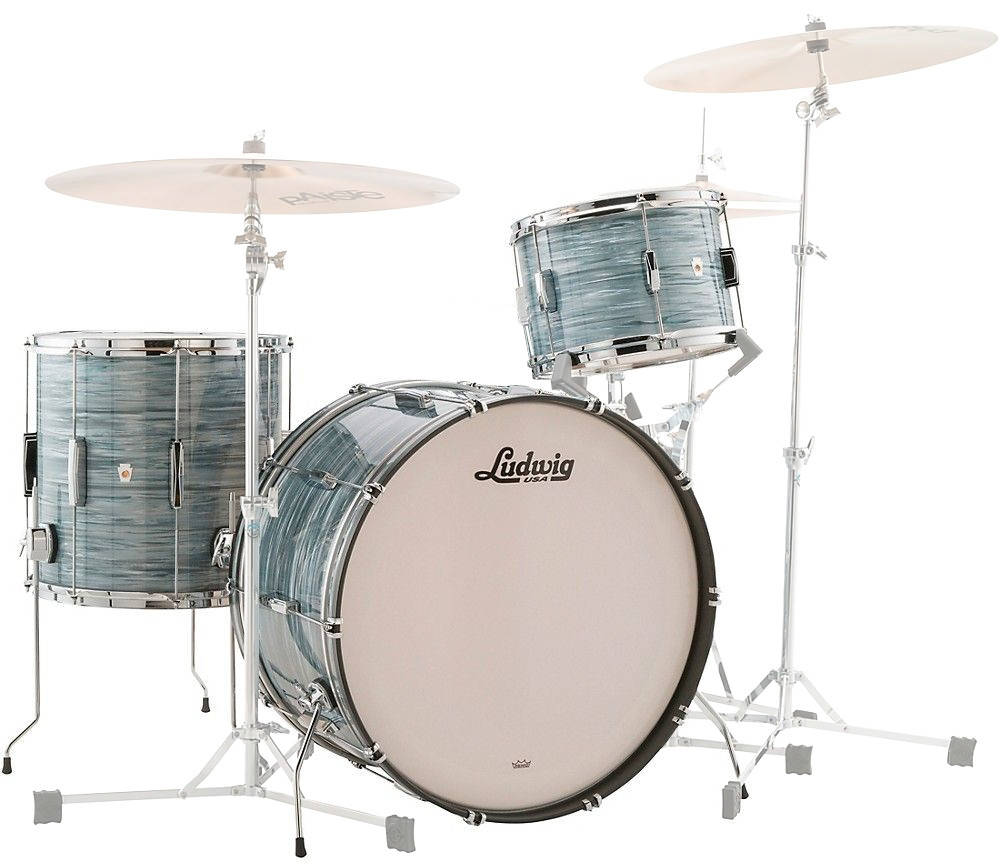 Ludwig Drums - Club Date 3-Piece Shell Pack 22/13/16 - Vintage Blue Oyster