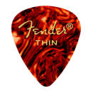 Fender - 351 Shape Celluloid Picks 12-Pack - Tortoiseshell - Thin