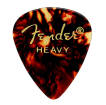 Fender - 351 Shape Celluloid Picks 12-Pack - Tortoiseshell - Heavy