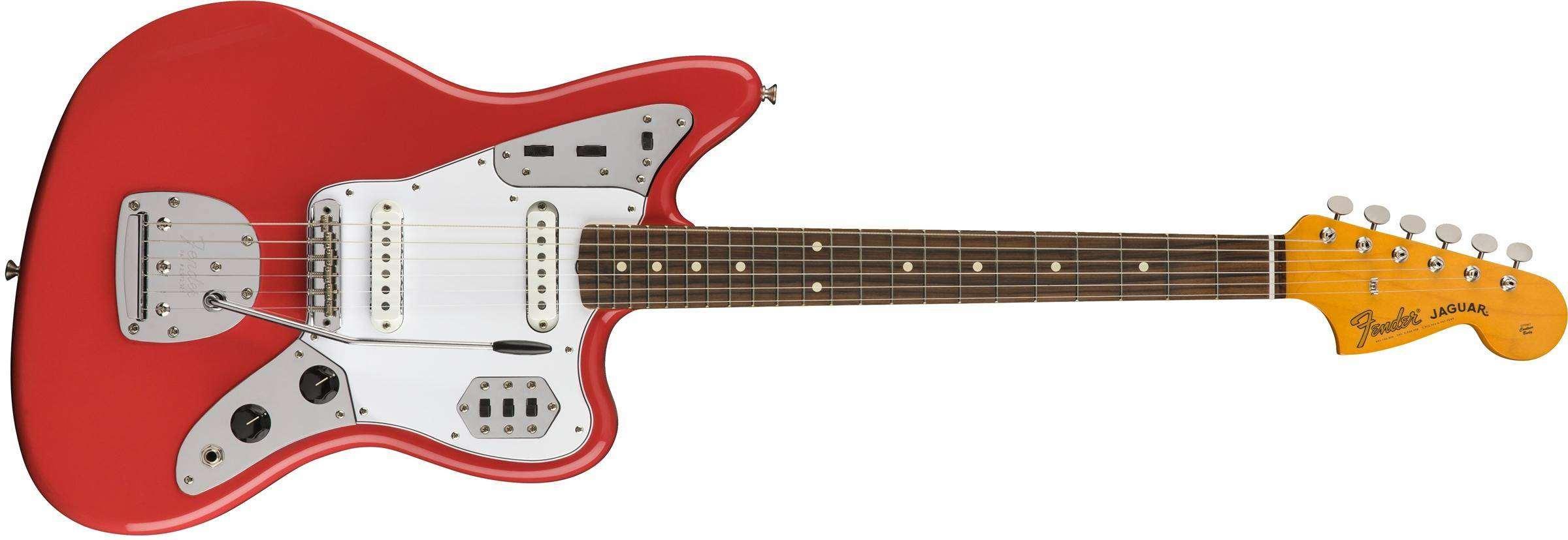 134b3eec3c87cf Fender Classic 60's Jaguar Lacquer, Pau Ferro Fingerboard - Fiesta Red