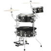 Tama - Cocktail Jam 4-Piece Shell Pack with Hardware (16,10,14,12SD) - Midnight Gold Sparkle