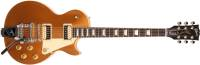 Gibson - 2017 Les Paul Classic Zebra Goldtop w/Bigsby Ltd
