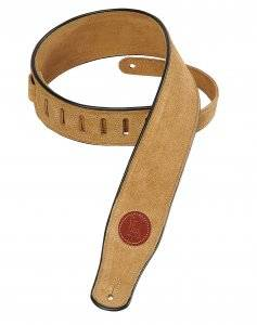 Long & McQuade Suede Leather Guitar Strap - Sand