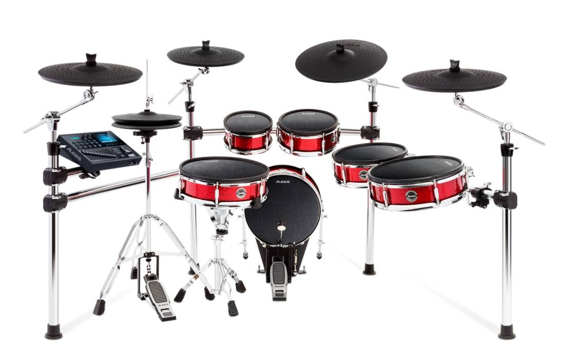 alesis strike pro kit 11 piece professional electronic drum kit with mesh heads long mcquade. Black Bedroom Furniture Sets. Home Design Ideas