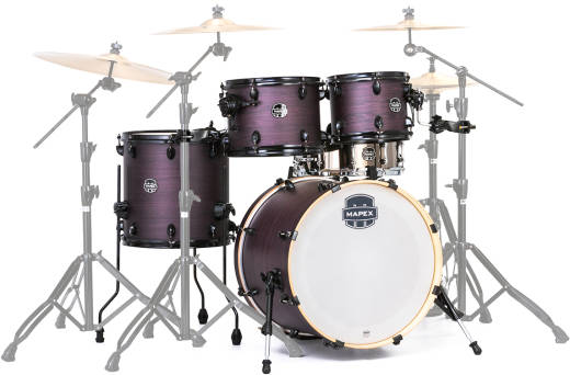 Armory Fusion 5-Piece Shell Pack 20,10,12,14, Snare - Purple Haze