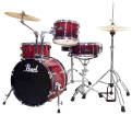 Pearl - Roadshow 4-Piece Drum Kit (18,10,14, Snare) - Cherry Red