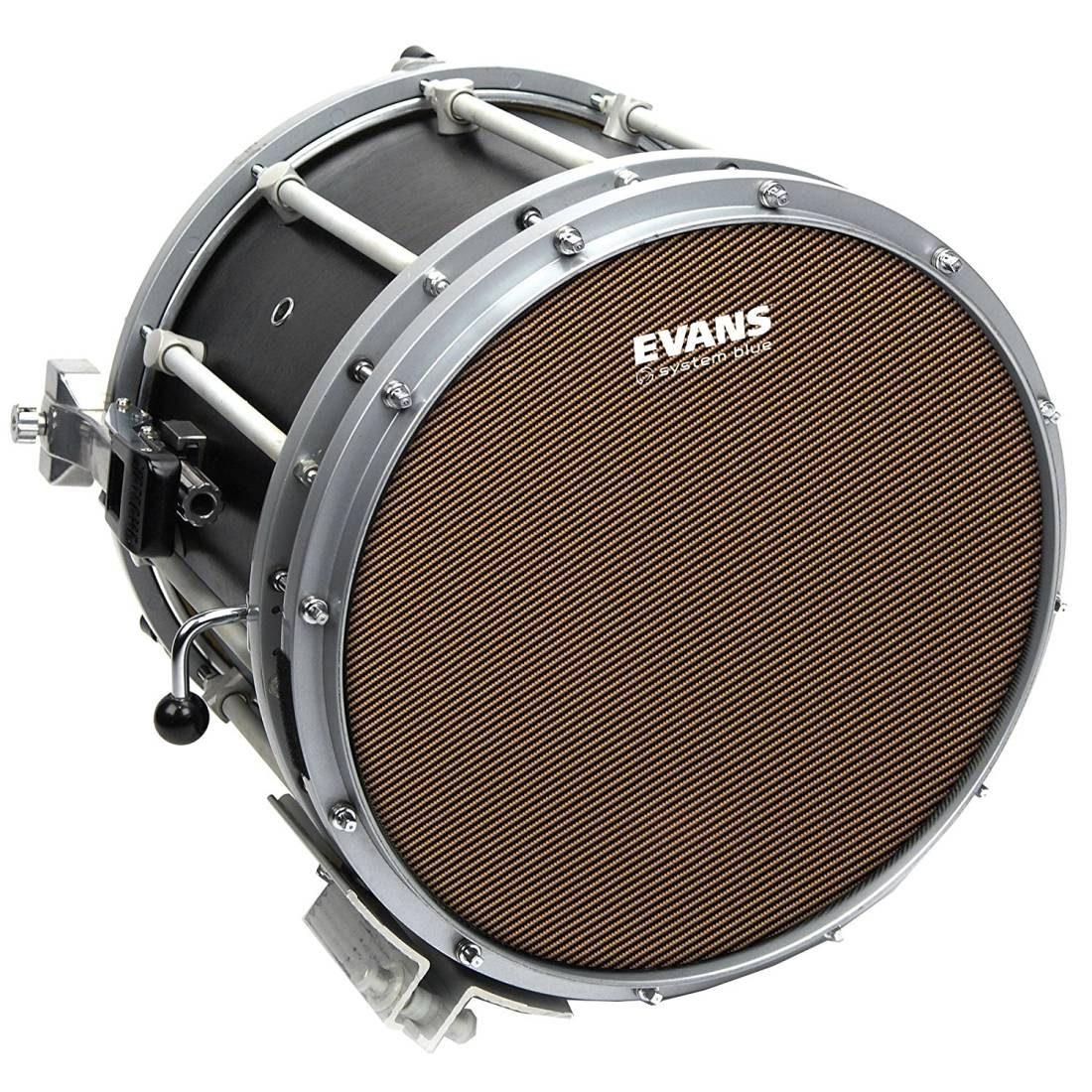 evans system blue marching snare drum head 14 inch long mcquade musical instruments. Black Bedroom Furniture Sets. Home Design Ideas