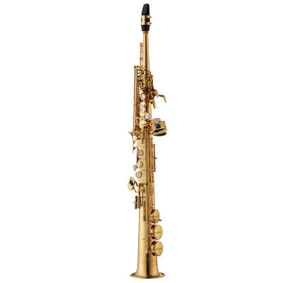 S-WO1 Professional Soprano Saxophone, One-Piece Body - Lacquered Brass w/ Case