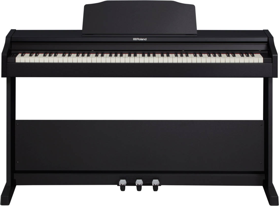 roland rp102 digital piano w stand black long mcquade musical instruments. Black Bedroom Furniture Sets. Home Design Ideas