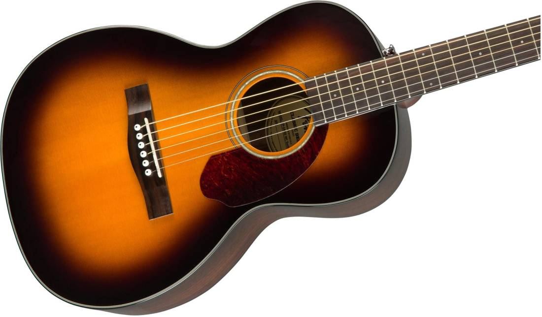 fender cp 140se parlour acoustic electric guitar with case sunburst long mcquade musical. Black Bedroom Furniture Sets. Home Design Ideas