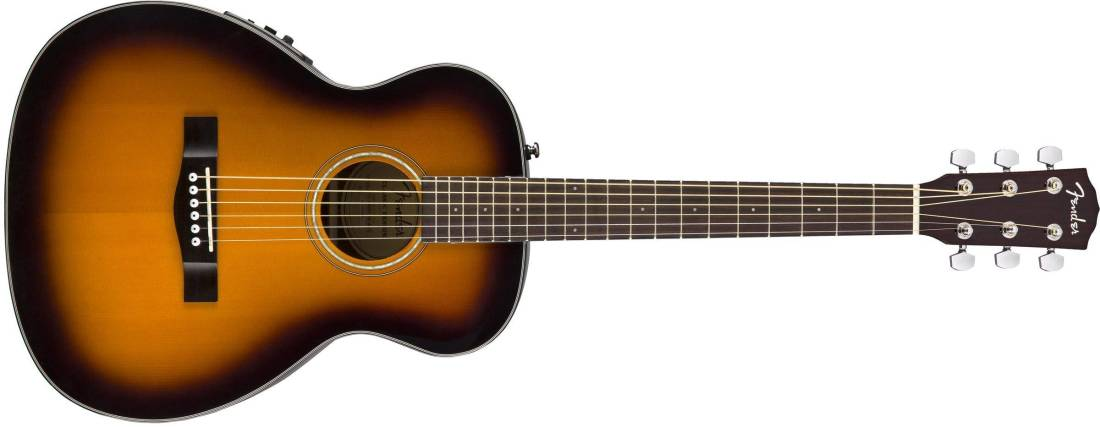 fender ct 140se travel guitar with case sunburst long mcquade musical instruments. Black Bedroom Furniture Sets. Home Design Ideas