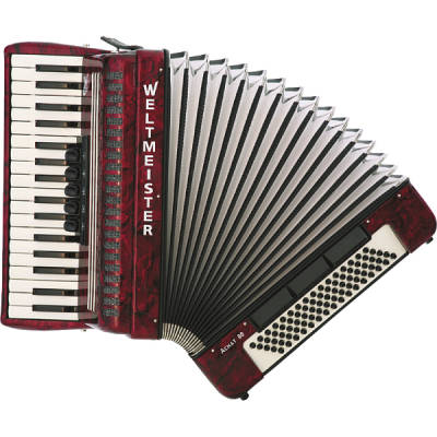 Achat 80 Bass Accordion - Red