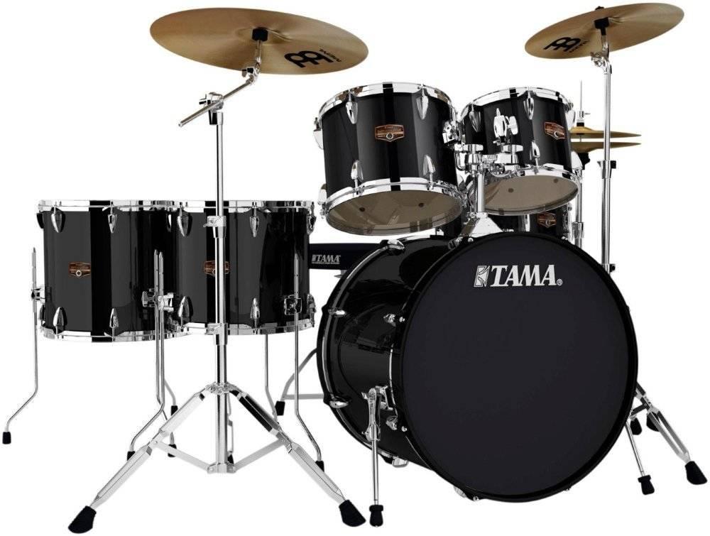 tama imperialstar 6 piece complete drum set 22 10 12 14 16 snare hairline black long. Black Bedroom Furniture Sets. Home Design Ideas
