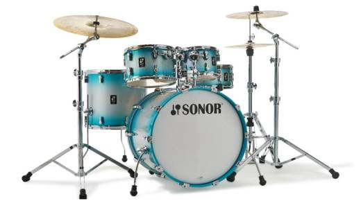AQ2 Series 5-Piece Shell Pack (22,10,12,16,14 Snare) - Aqua Silver Burst