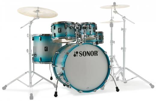 AQ2 Stage 5-Piece Shell Pack (22,10,12,16,14 Snare) - Aqua Silver Burst