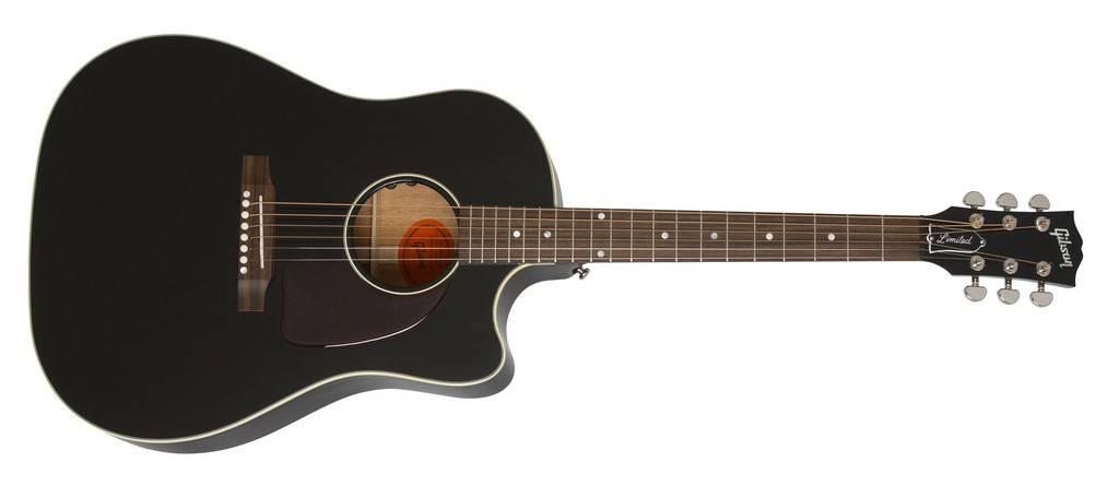 29e1694a9e9 Gibson 2018 J-45 Cutaway Acoustic-Electric - Ebony - Long & McQuade ...