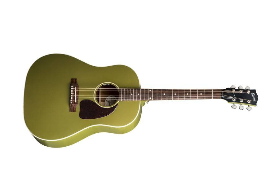 Gibson 2018 J 45 Acoustic Electric Olive Green Long Mcquade