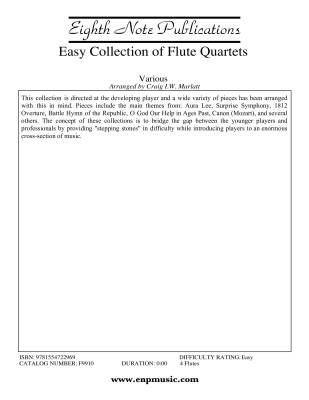 Easy Collection of Flute Quartets - Marlatt - 4 Flutes