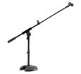 Hercules Stands - MS120B Low-Profile H Base Mic Stand w/ Boom and Mic Clip