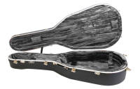 Hiscox Cases - Artist Dreadnought Guitar Case - Black Shell/Silver Interior