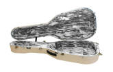 Hiscox Cases - Artist Large Classical Guitar Case - Ivory Shell/Silver Interior
