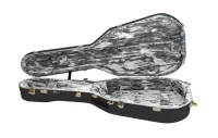 Hiscox Cases - Artist OOO/OM Guitar Case - Black Shell/Silver Interior