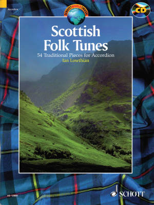 Scottish Folk Tunes: 54 Traditional Pieces - Lowthian - Accordian - Book/CD