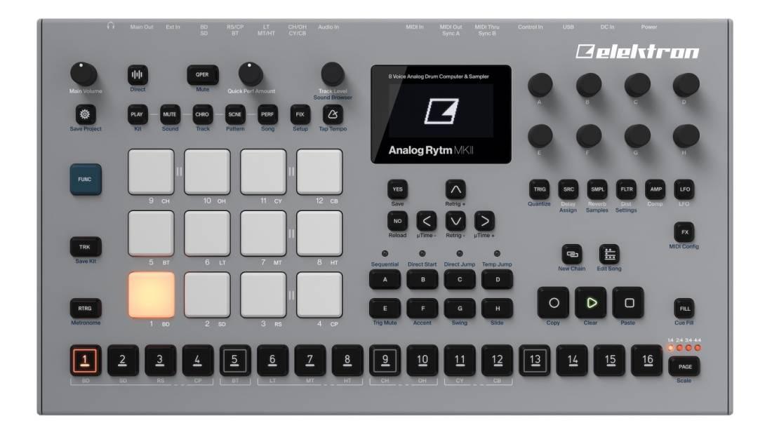 Elektron - Analog Rytm MKII 8-Voice Analog Drum Machine & Sampler