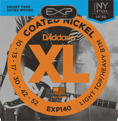 EXP140 - Nickel Wound Coated Light Top/Heavy Bottom 10-52