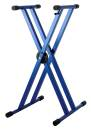 Strukture - Double Braced Anodized Aluminum Keyboard Stand w/Trigger - Blue