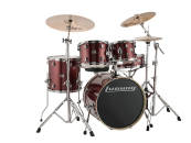 Ludwig Drums - Evolution 5-Piece Drum Kit w/Hardware, Cymbals & Throne - Wine Red