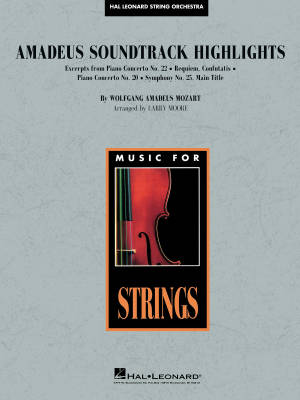 Amadeus Soundtrack Highlights - Mozart/Moore - String Orchestra - Gr. 3 - 4