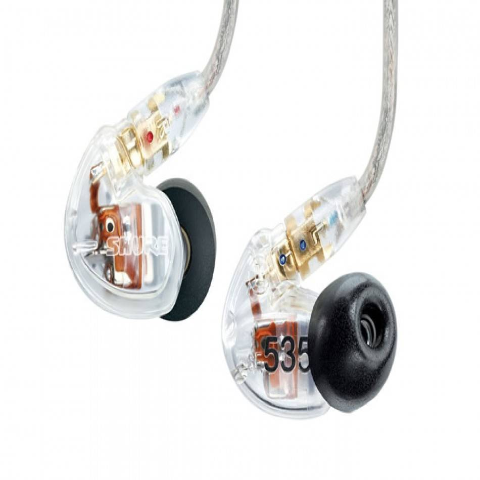 shure se535 sound isolating earphones clear long mcquade musical instruments. Black Bedroom Furniture Sets. Home Design Ideas