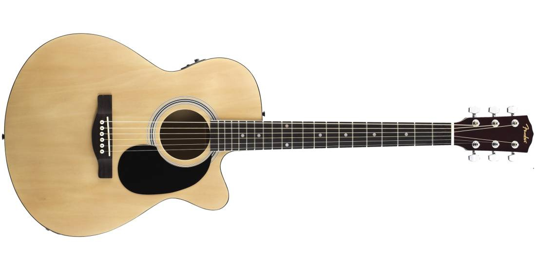 fender fa 135ce cutaway concert acoustic electric guitar natural long mcquade musical. Black Bedroom Furniture Sets. Home Design Ideas