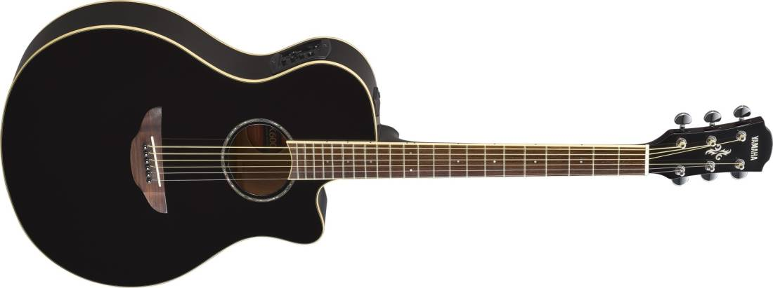yamaha apx600 acoustic electric guitar black long mcquade musical instruments. Black Bedroom Furniture Sets. Home Design Ideas