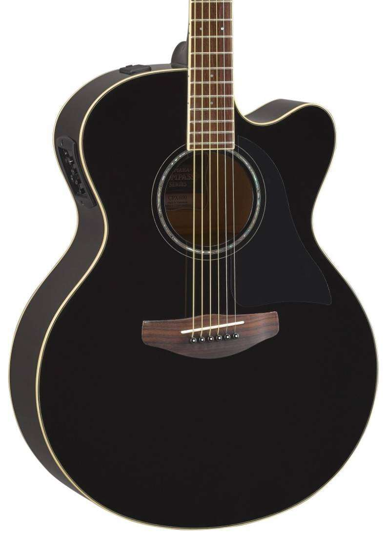 yamaha cpx600 acoustic electric guitar black long mcquade musical instruments. Black Bedroom Furniture Sets. Home Design Ideas