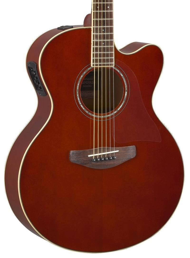 yamaha cpx600 acoustic electric guitar root beer long mcquade musical instruments. Black Bedroom Furniture Sets. Home Design Ideas