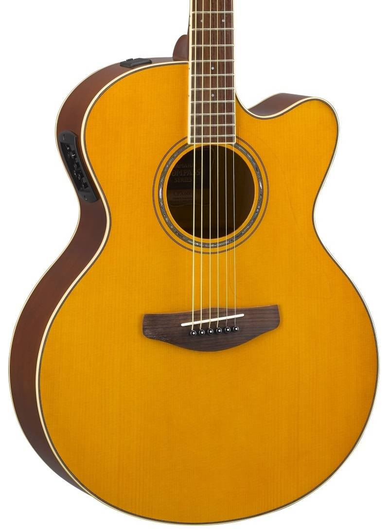 yamaha cpx600 acoustic electric guitar vintage tint long mcquade musical instruments. Black Bedroom Furniture Sets. Home Design Ideas