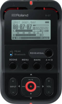 R-07 High Resolution Audio Recorder - Black