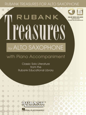 Rubank Treasures for Alto Saxophone - Voxman - Book/Media Online